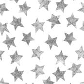 Starry Watercolor Dreams in Grey