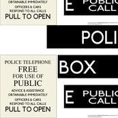 Police Box Quilt Pattern FQ Companion
