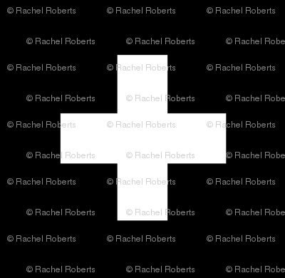 White Crosses on Black - Black Plus Signs