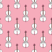 Violin, Cello and Guitar series illustration music pattern