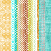 Southwest Stripe in turquoise and gold