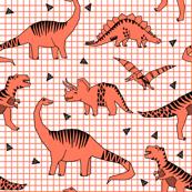 dinosaur // orange kids bright orange dinos dinosaurs kids baby
