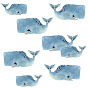 Whale Pod in Blue