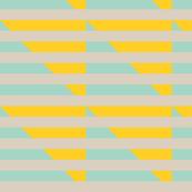 tan yellow mint stripes triangle