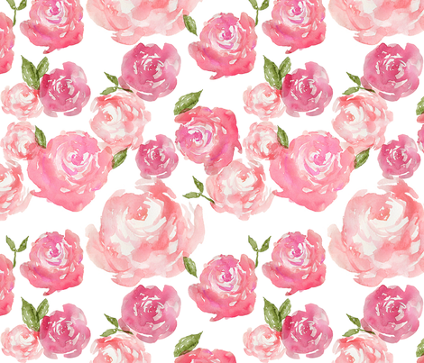 Watercolor Floral fabric by laurapol on Spoonflower - custom fabric