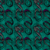 NIB Snakes & Dragons (Smokey Background  2) Larger Scale