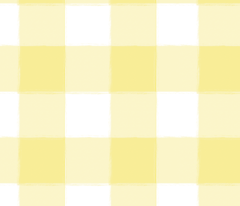 Large Yellow Buffalo Check Gingham fabric by sugarfresh on Spoonflower - custom fabric