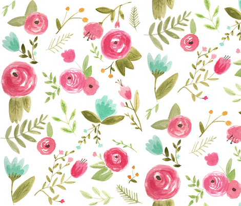 Happy Floral fabric by pacemadedesigns on Spoonflower - custom fabric