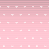 Pink and Gray Strips with Hearts