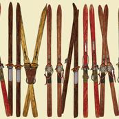 vintage ski lineup decor by Diane Gilbert