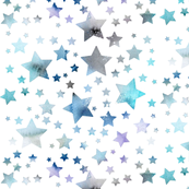 Stars - watercolour blue