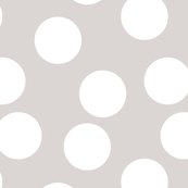 Large geometric circle abstract white dots confetti gray gender neutral