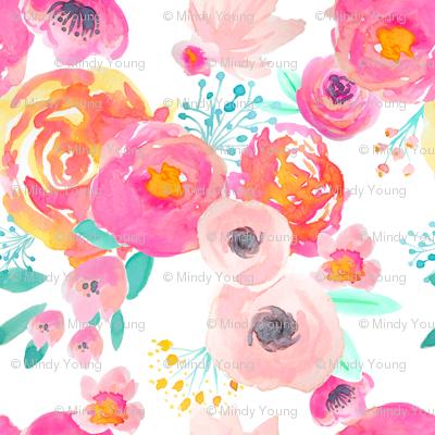 Indy Bloom Blush Florals WHITE B