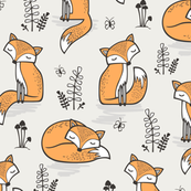 Dreamy Fox in Cloud Grey