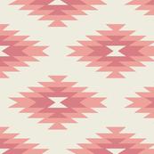 Navajo - Cream, Coral, & Pink