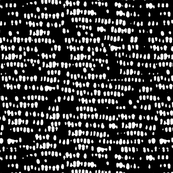 white on black corn silhouette - abstract dots