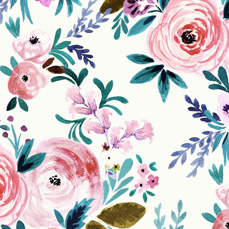 Victoria Floral fabric by crystal_walen on Spoonflower - custom fabric