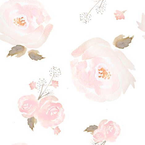 Indy Bloom Blush Rose B fabric by indybloomdesign on Spoonflower - custom fabric