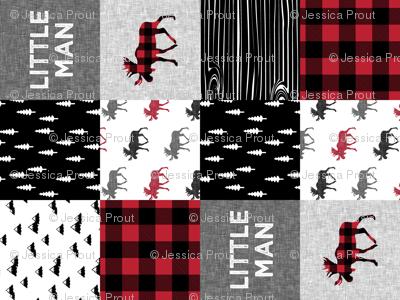 little man patchwork quilt top (90)    buffalo plaid