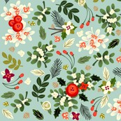 Vintage Ditsy Mistletoe
