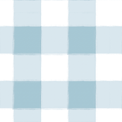 Large Light Blue Buffalo Check Gingham