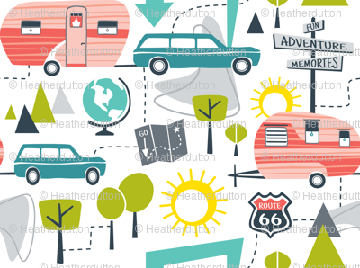 Road Trip - Retro Summer Camping Regular Scale