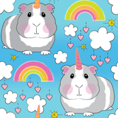 guinea pig unicorns-and-rainbows