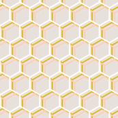 Honeycomb HoneyHouse Peach Gold, Smaller White, Cotton