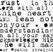 Trust in the Lord | Scripture Quote | Black Text on White Background