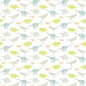 Mini Dinos on White