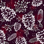 Festive Forest - Burgundy