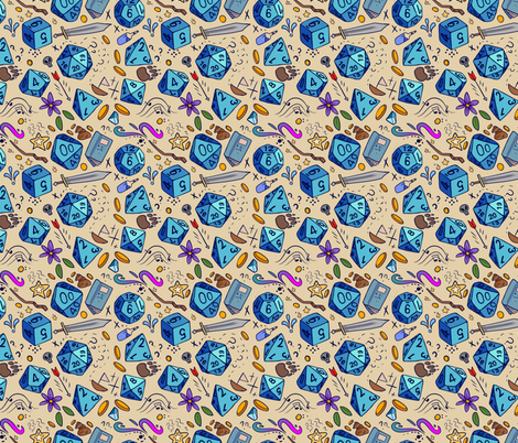 DND pattern fabric by neonborealis on Spoonflower - custom fabric