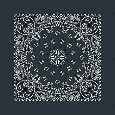 h200s026v022-Bandanna-Paisley Round-Charcoal Grey