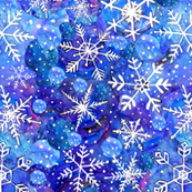 blue christmas snowflake in blue and white