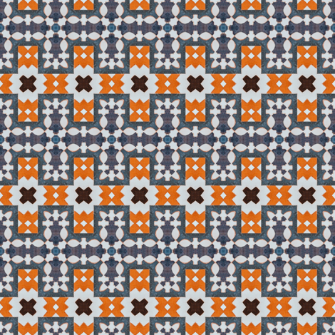 Mosaic South Pattern Moroccan 61 fabric by julia_dreams on Spoonflower - custom fabric