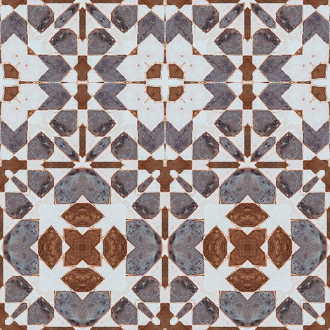 Mosaic South Pattern Moroccan 63 fabric by julia_dreams on Spoonflower - custom fabric