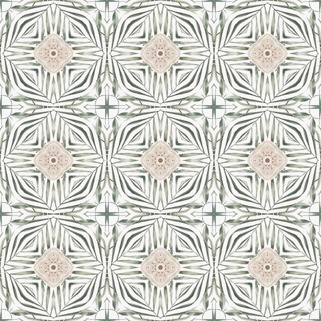 Tender Mosaic vintage geometric pattern 31 fabric by julia_dreams on Spoonflower - custom fabric