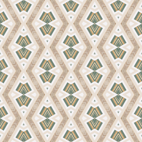 Tender Mosaic vintage geometric pattern 41 fabric by julia_dreams on Spoonflower - custom fabric