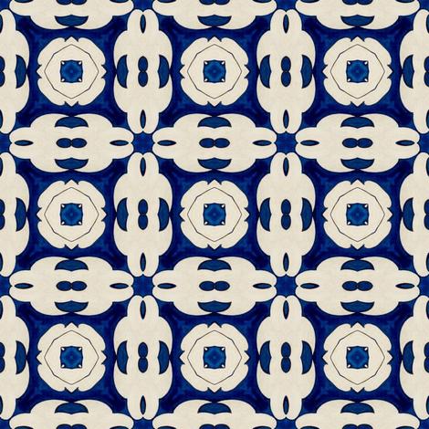 Intense Blue Pattern3 fabric by julia_dreams on Spoonflower - custom fabric