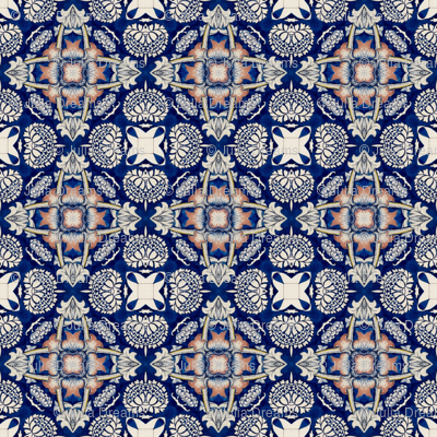 Intense Blue Pattern9
