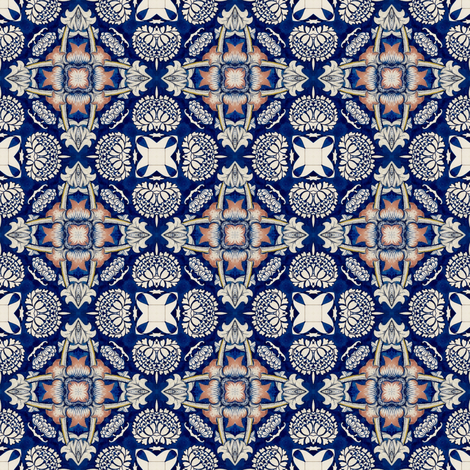 Intense Blue Pattern9 fabric by julia_dreams on Spoonflower - custom fabric