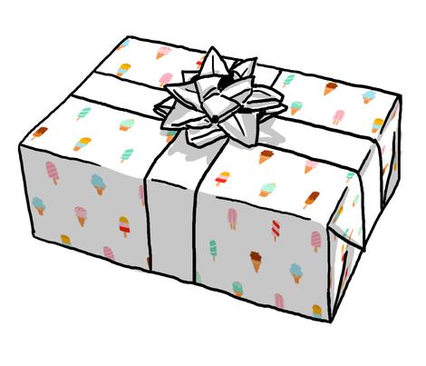 geometric gift wrap roll ice cream wallpaper stolenpencil spoonflower