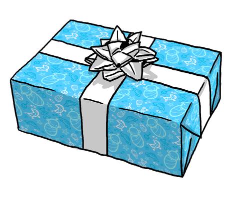 Doodle Baby Boy Giftwrap Oksancia Spoonflower