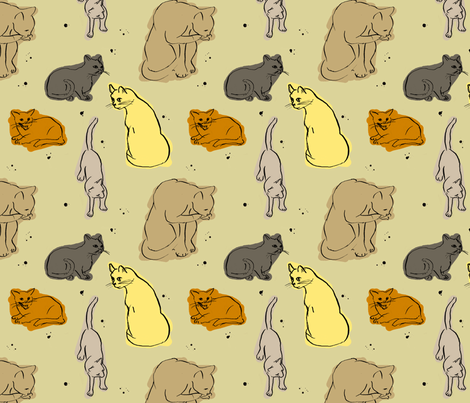 Vortex the cat fabric by fehrtrade on Spoonflower - custom fabric