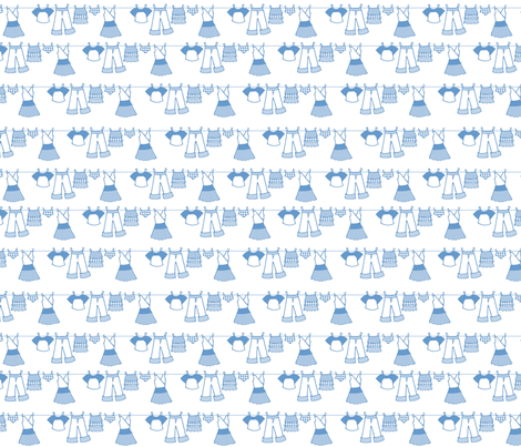 Clothesline (blue) fabric by jmaranez on Spoonflower - custom fabric