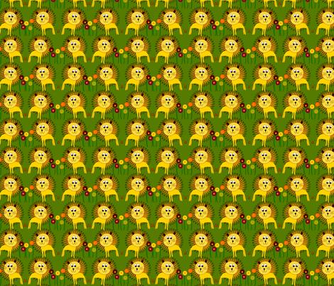 Lion Design fabric by rachel_galloway on Spoonflower - custom fabric