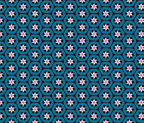 Bluefruit Retro Crescent Flower fabric by jazilla on Spoonflower - custom fabric