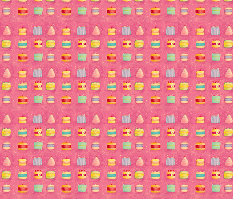 Cakes fabric by susanmitchell on Spoonflower - custom fabric