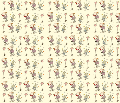 Monster Clowns fabric by susanmitchell on Spoonflower - custom fabric