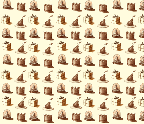 'Tis the season fabric by susanmitchell on Spoonflower - custom fabric